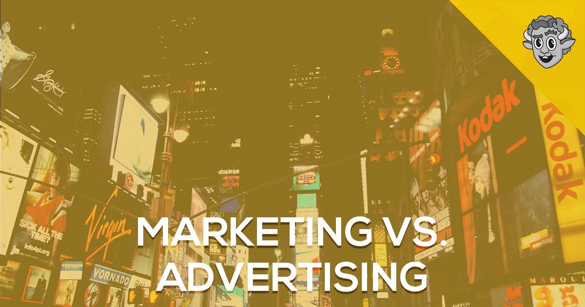 What is the real difference between #marketing and #advertising >>  #content #business