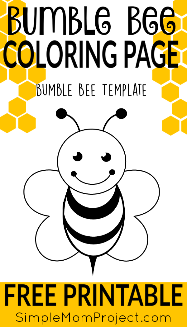 graphic regarding Free Printable Bee Template identified as Free of charge Printable Bee Templates Coloring Web pages Bee template