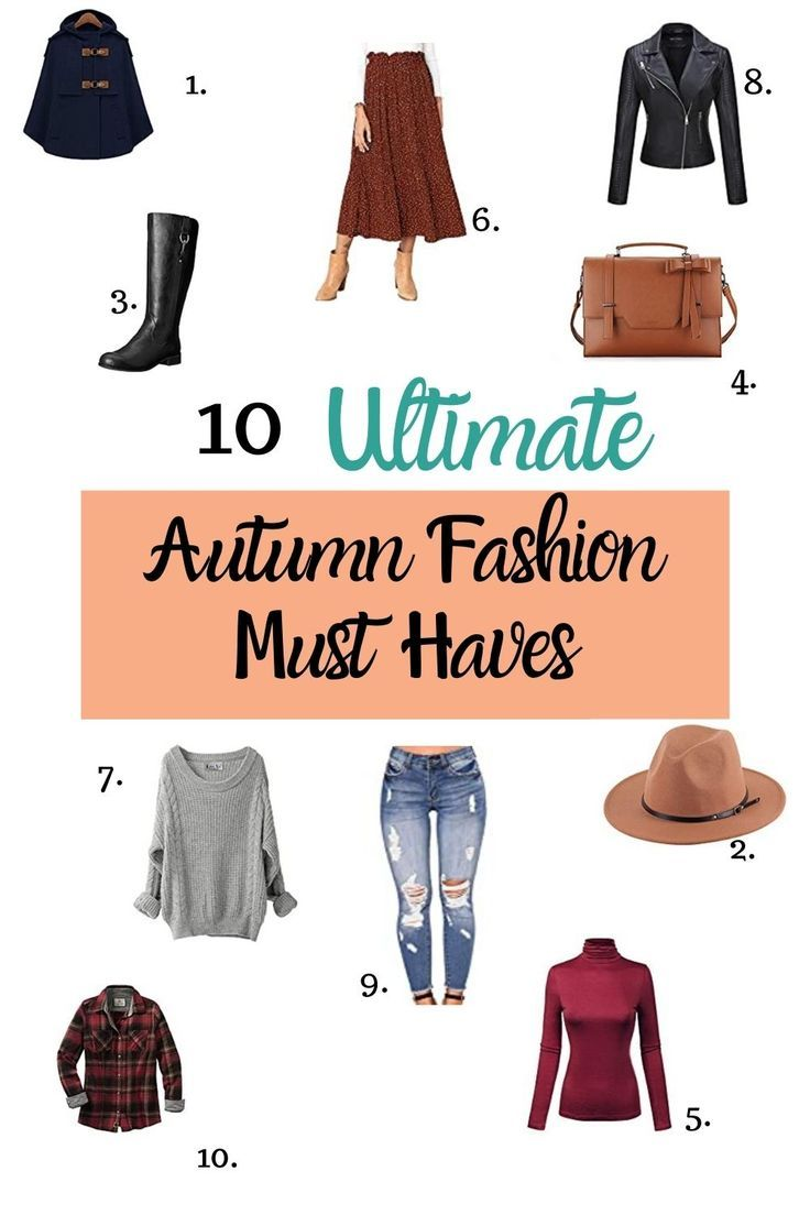 Pin on Autumn in 7  Fashion, Autumn fashion, Fashion musthaves