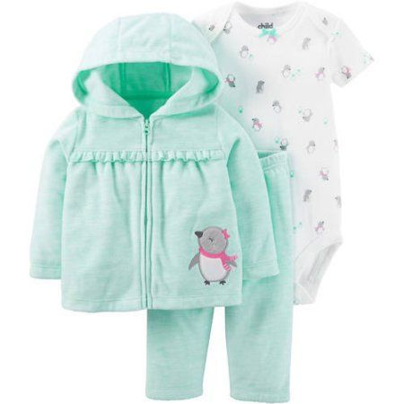 Child Of Mine By Carter S Newborn Baby Girl Cardigan Set 3 Pieces