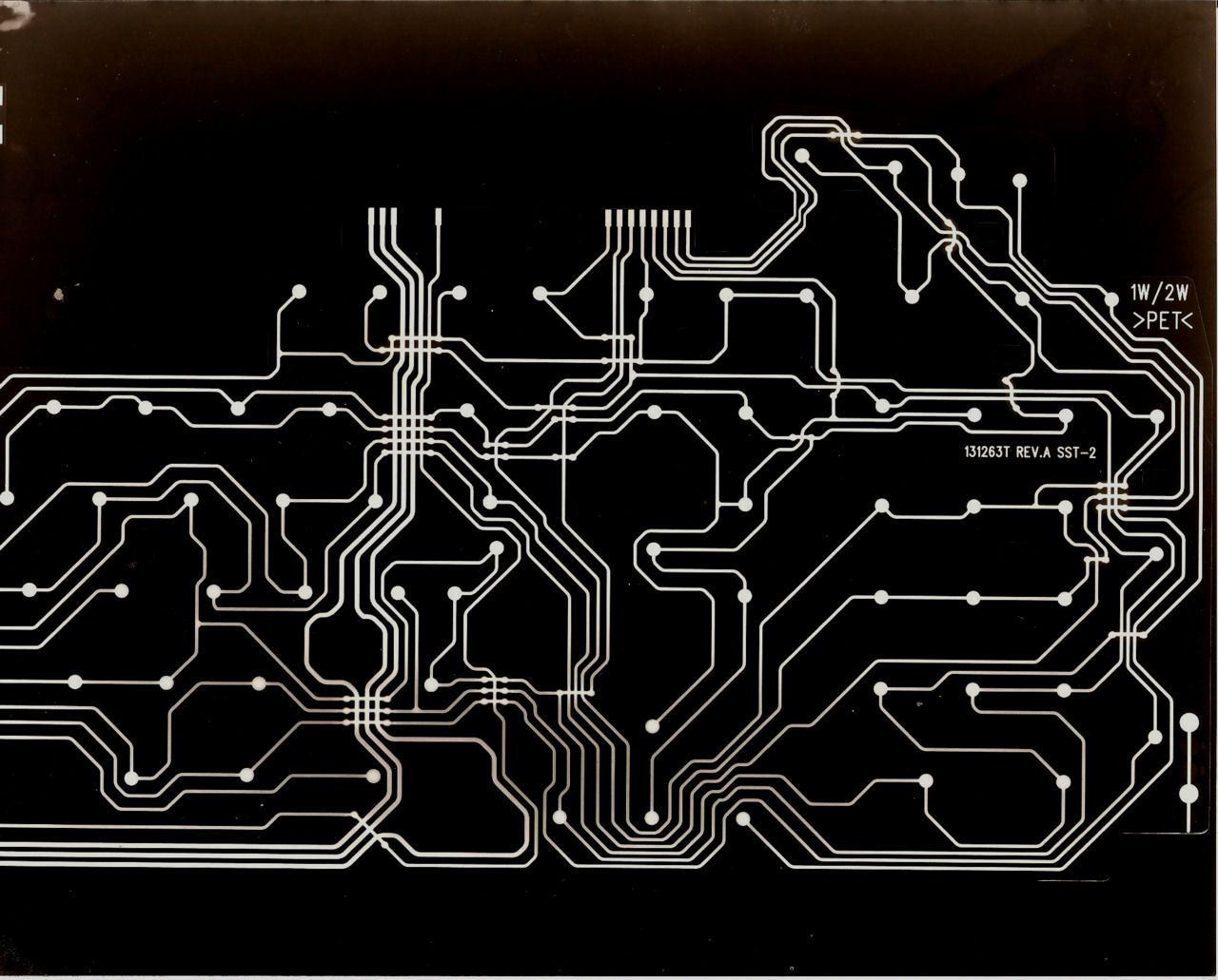 The third electronic blueprint/circuit photogram (found inside an ...