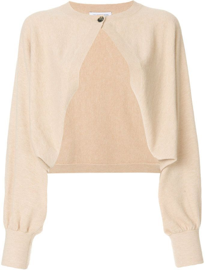 cropped cardigan - Nude & Neutrals J.W.Anderson Huge Surprise pW0QQE