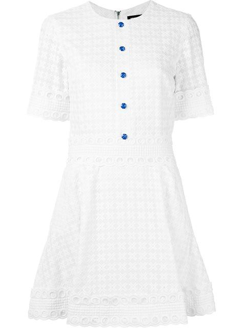 HOUSE OF HOLLAND embroidered flared dress. #houseofholland #cloth #dress