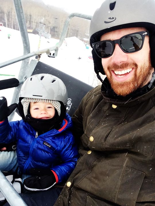 eleanor and samson's first day on the slopes!