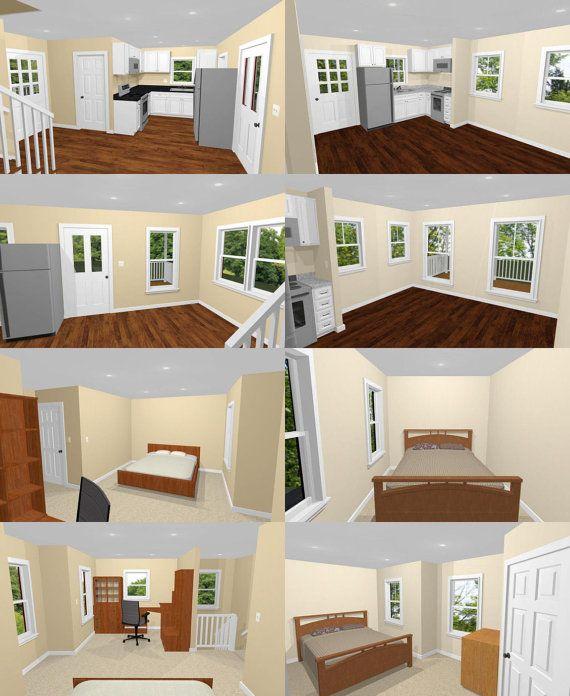 20x16 Tiny House PDF Floor Plan Model 12 584 sq ft