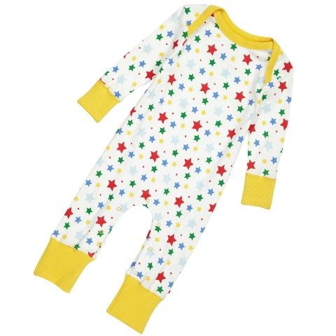 Piccalilly Star Playsuit Organic Cotton Baby Clothes Baby