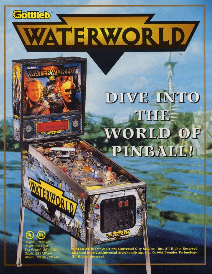 Waterworld in 2020 Pinball, Pinball machine, Arcade