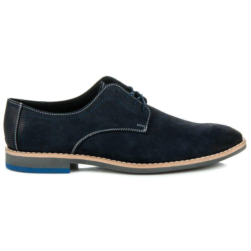 Polbuty Meskie Lucca Niebieskie Skorzane Polbuty Lucca Chukka Boots Boots Shoes
