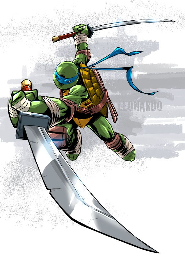 Leaping Leonardo Teenage Mutant Ninja Turtles Pin