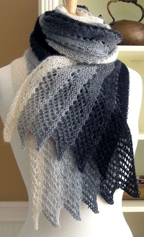Knitting Pattern For Mistral Scarf Diy Scarf Poncho Shawl