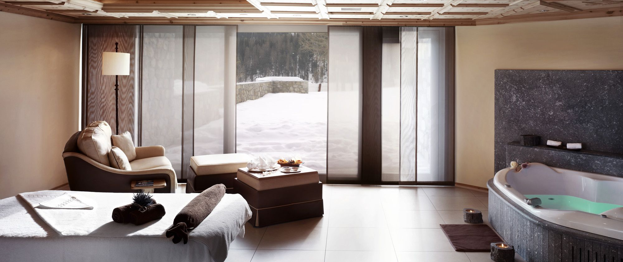 Snowy winters in St. Mortiz are best spent in the Palace Wellness