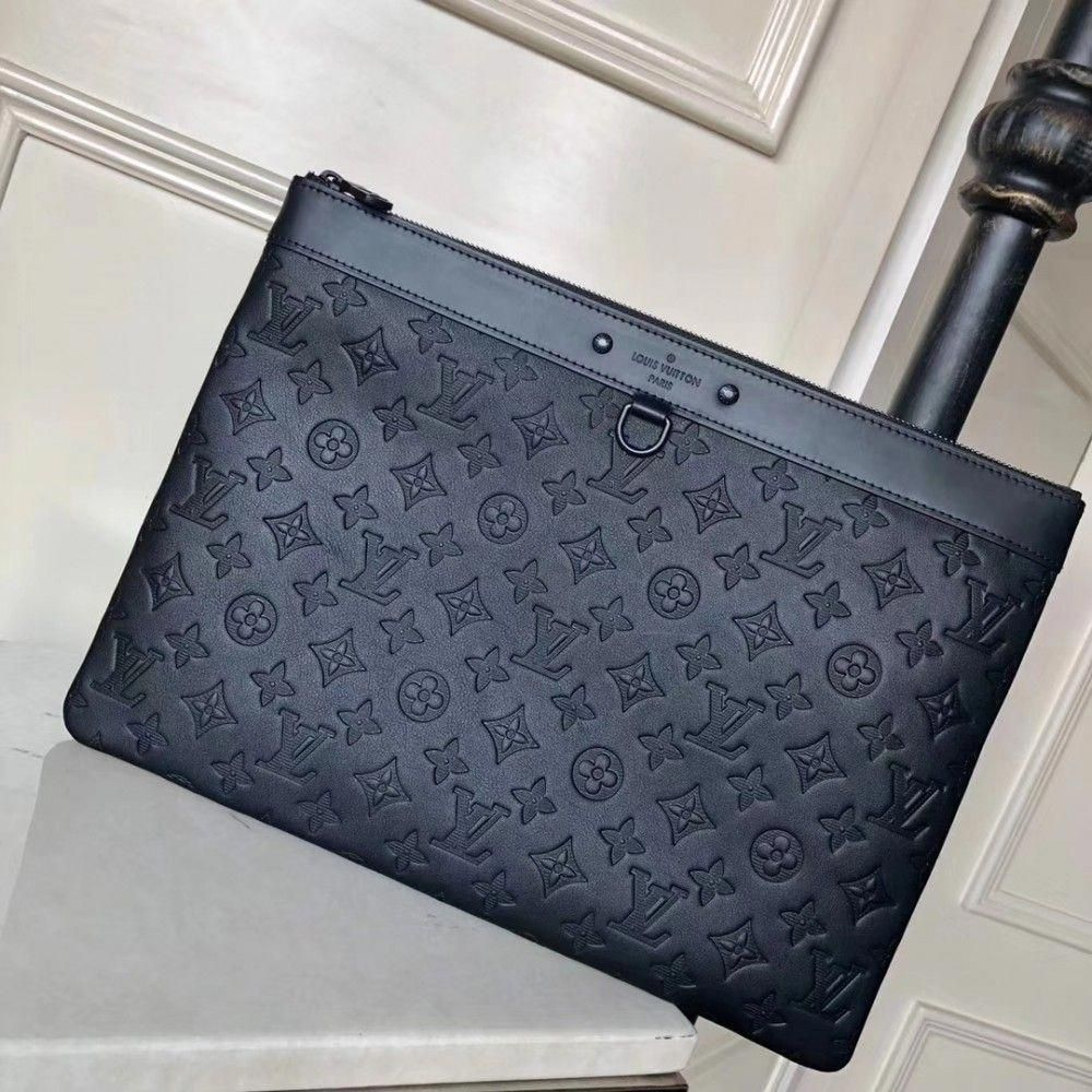4a4fa1bb5e6f Louis Vuitton Pochette Apollo M62903 black Monogram Shadow calfskin   Louisvuittonhandbags