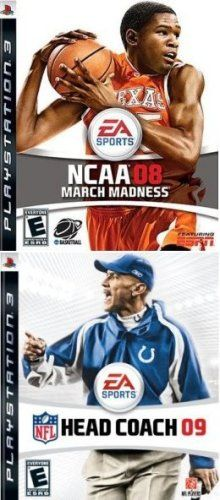 Ea Sports 2 Pack March Madness Basketball 08 Nfl Football Head Coach 09 Game Searches