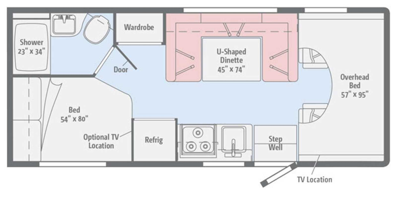 Thor Windsport 29m Camping World Hkr 1509796 Floor Plans How To Plan Flooring
