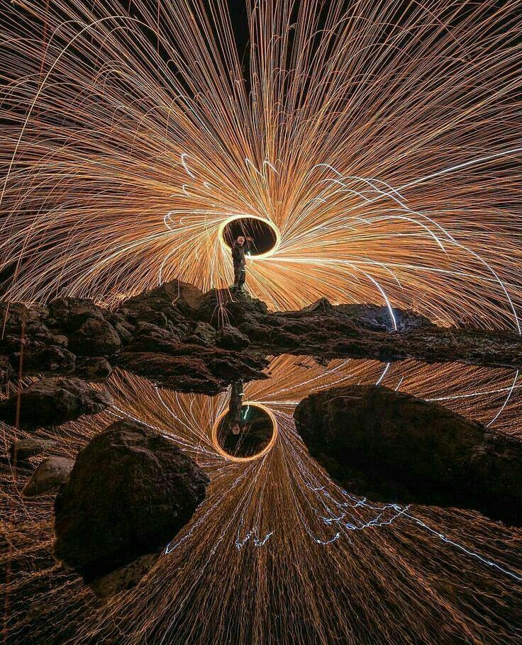 Light Graffiti Steel Wool 4 by Glenn-Cook-Filmslr on