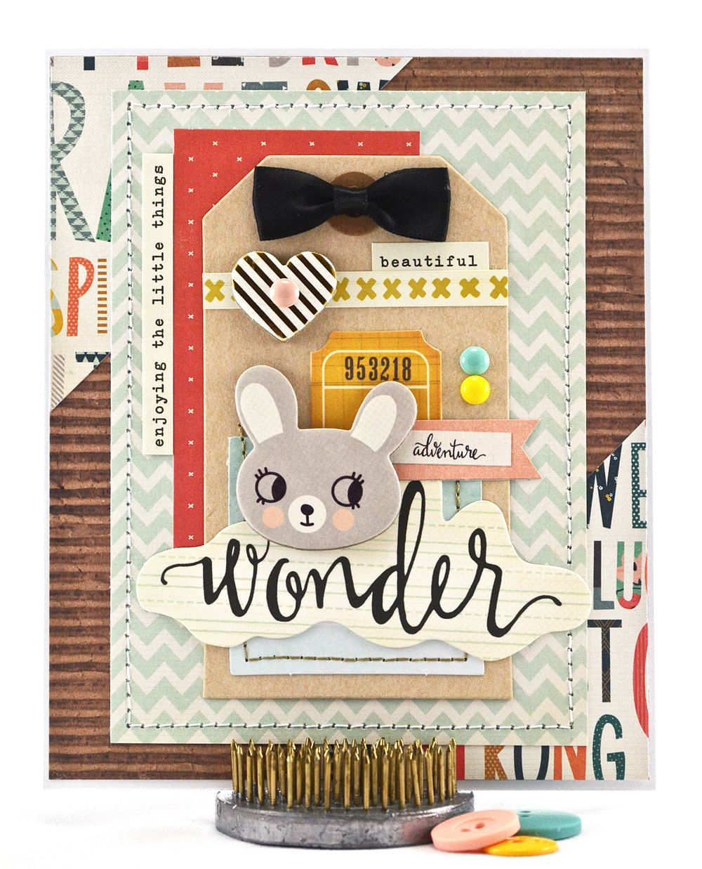 Newborn Baby Card Baby Shower Greeting Card Bunny Baby Shower