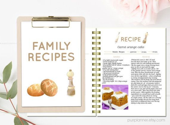 printable recipe pages