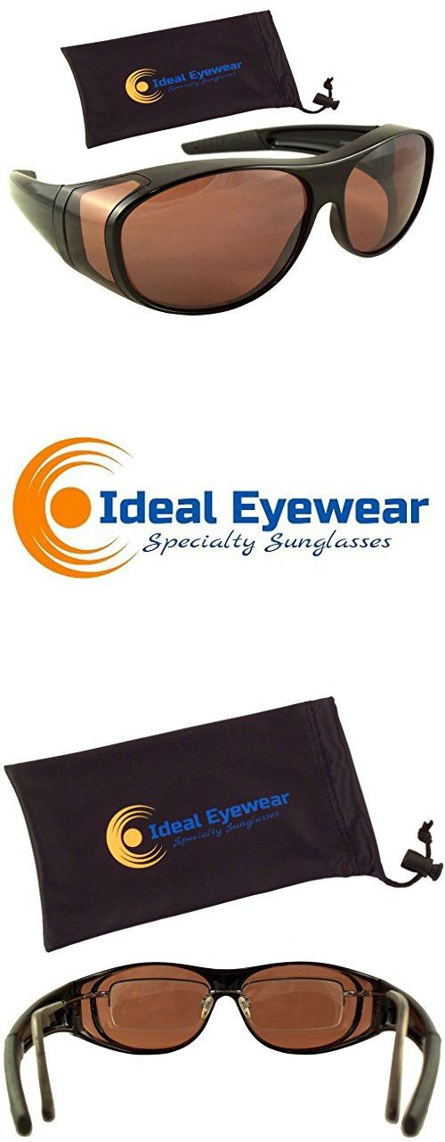 882a2655a91 Sun Shield Blue Blocking Fit Over Sunglasses by Ideal Eyewear - HD Copper  Lenses - Wear