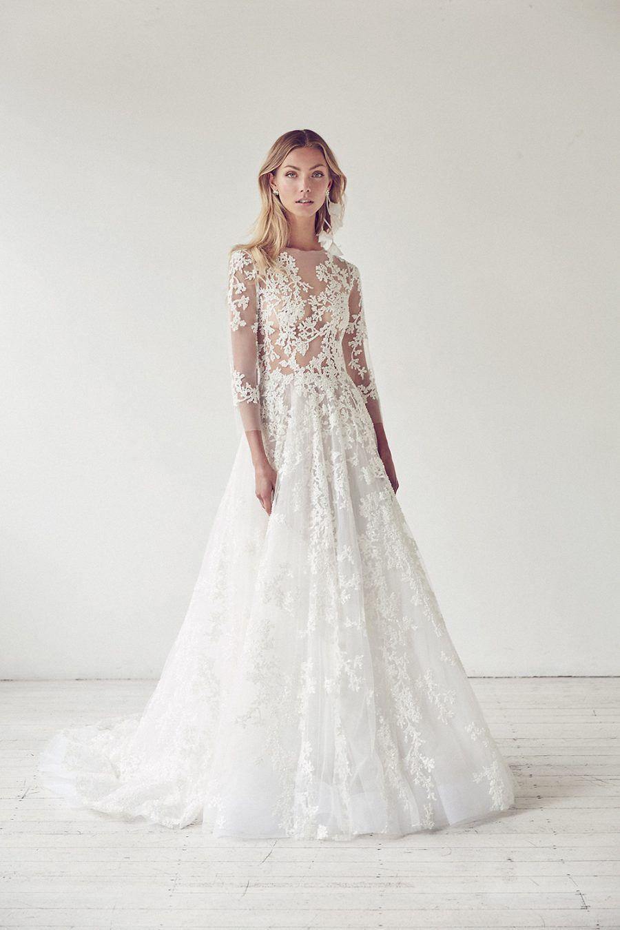 Long sleeve lace wedding dress by suzanne harward big day