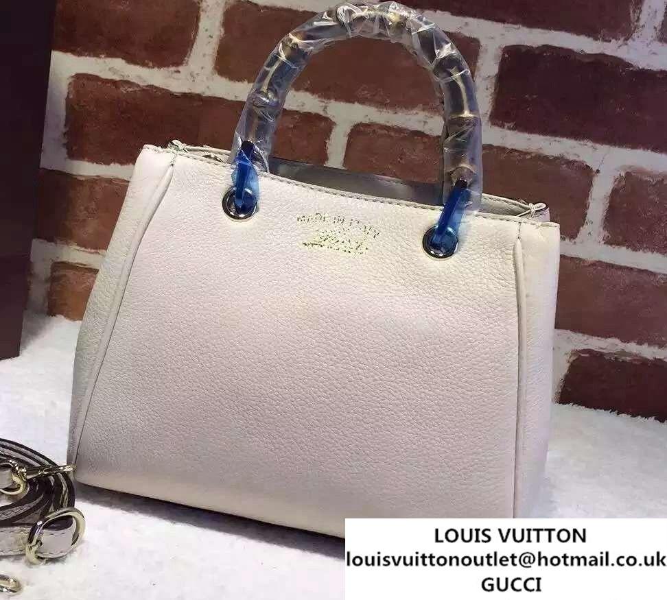 9c5ec1366c0 Gucci Mini Bamboo Shopper Leather Top Handle Bag 368823 White ...