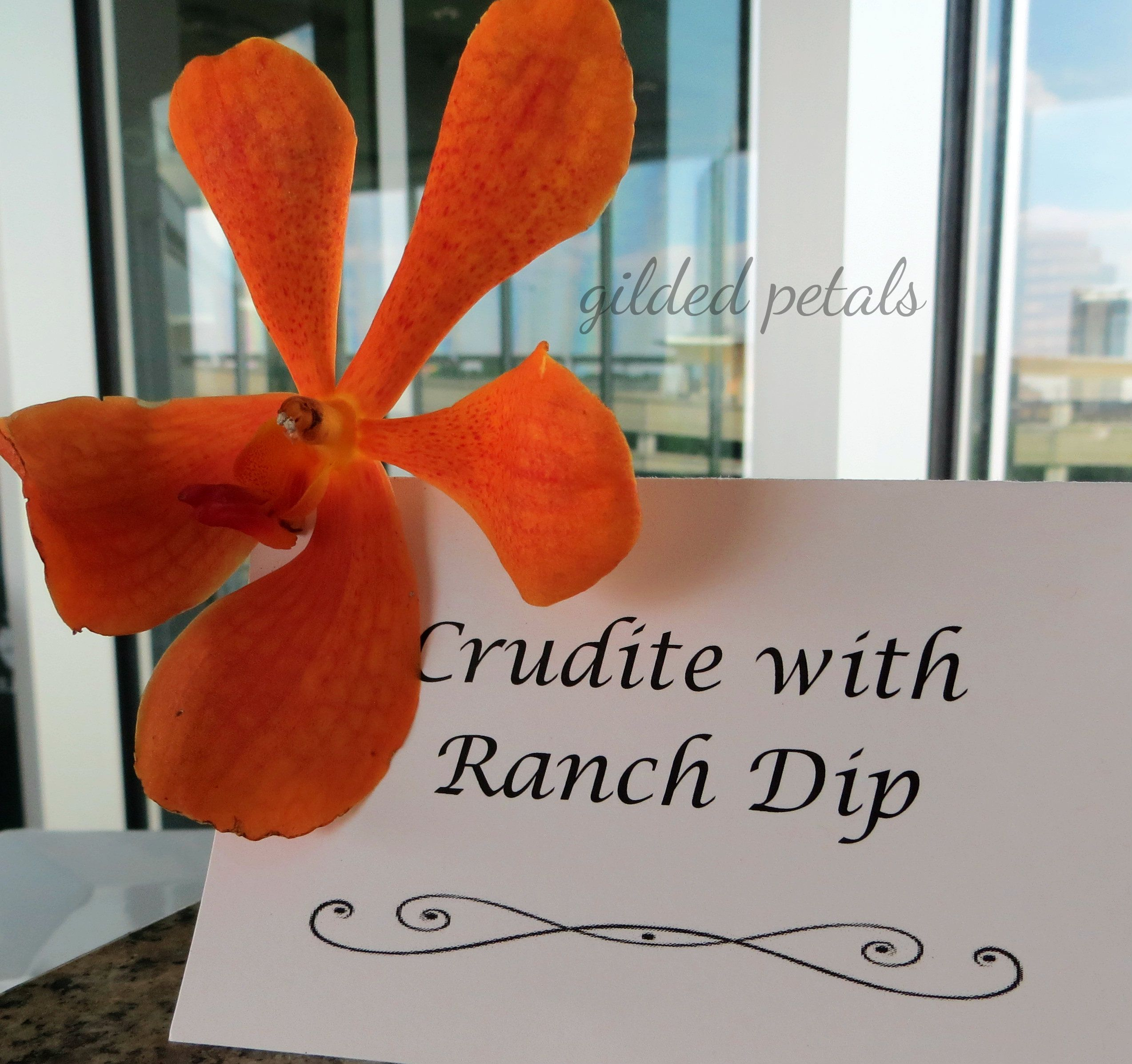 orange orchid buffet detail