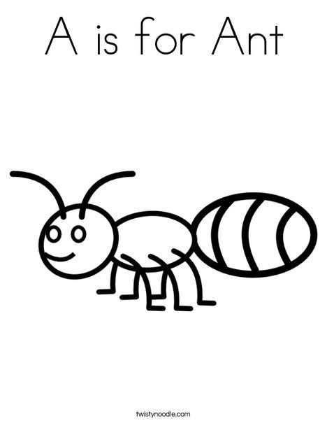 A Is For Ant Coloring Page Insect Coloring Pages Ants Coloring Pages