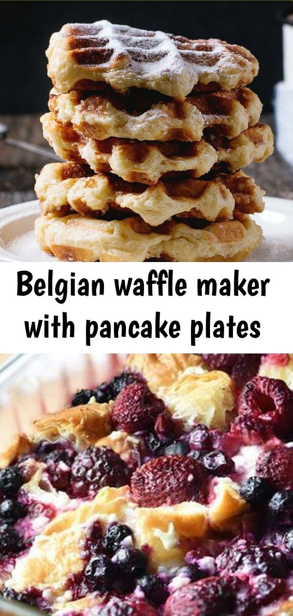 Belgian waffle maker with pancake plates Cinnamon Sugar Waffles This Blueberry and Raspberry Croissant Puff is an easy and delicious breakfast or dessert casserole using...
