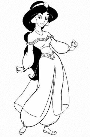 Kleurplaat Aladin Malvorlage Prinzessin Disney Prinzessin Malvorlagen Ausmalen