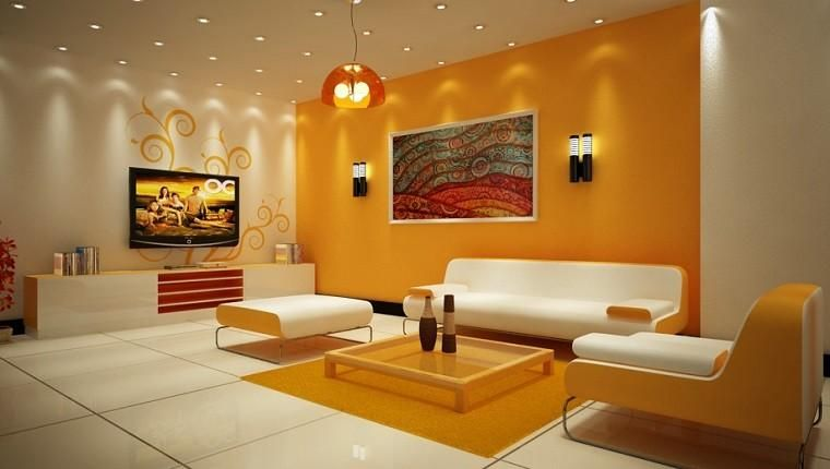 Warm Colors For The Salon 50 Great Ideas Architecture Room Wall