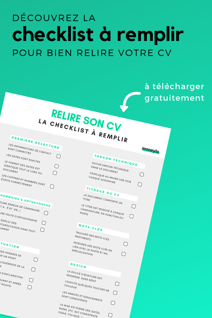 checklist  comment bien relire son cv en 7  u00e9tapes