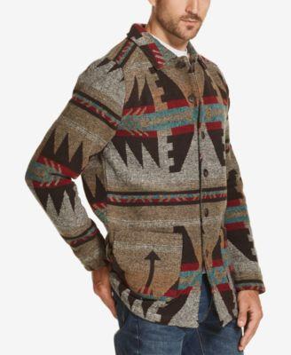 5567a9ed Weatherproof Vintage Men's Aztec Wool Jacket - Tan/Beige L ...