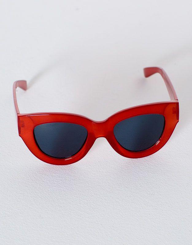 243278922798 Очки в оправе из пластмассы красного цвета - Просмотреть все - Аксессуары -  Для Женщин - PULL&BEAR Российская Федерация