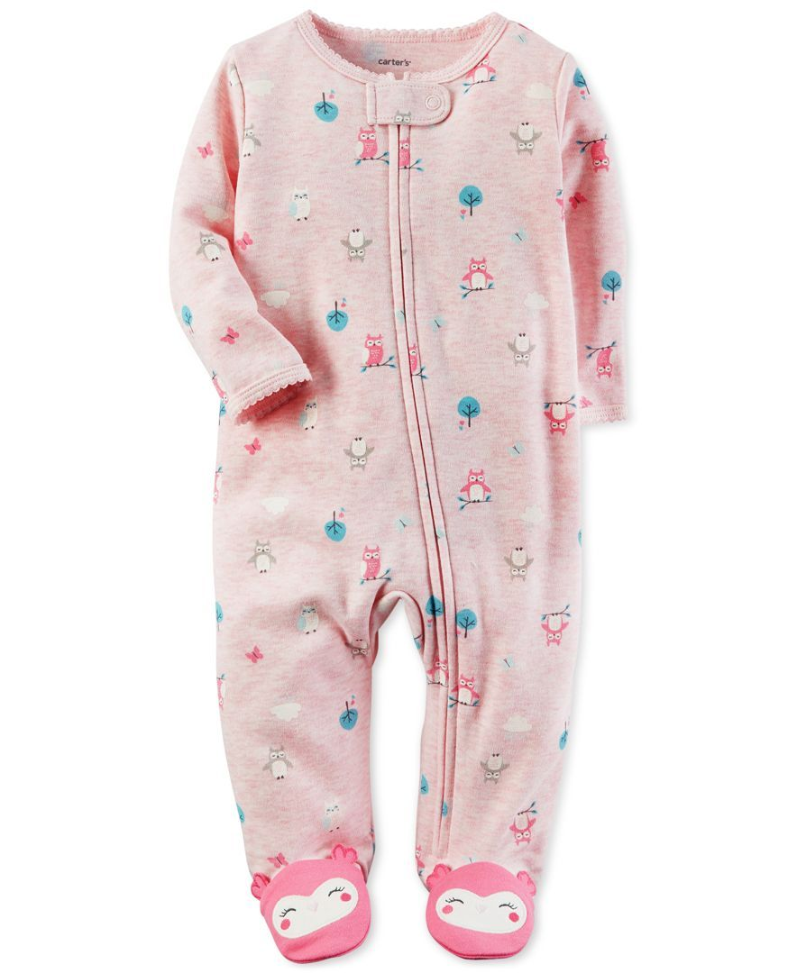 Carter s Owl-Print Footed Coverall 4e1190d58