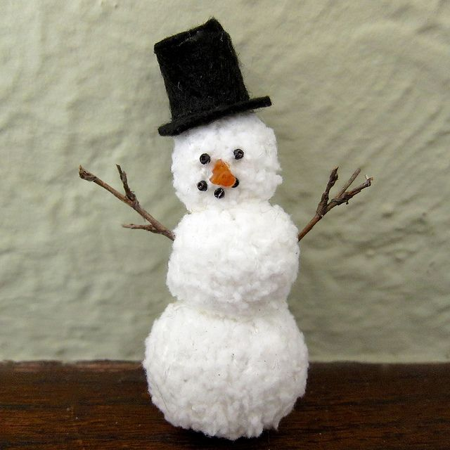 If you love to #knit, you'll love this fuzzy #snowman #ornament.