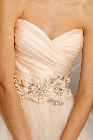 Lazaro Bridal Tulle Ball Gown Pleated Silk Satin Organza Floral Jewel Natural Waist Circular Chapel Train 3108_x2  375×563 Pixels