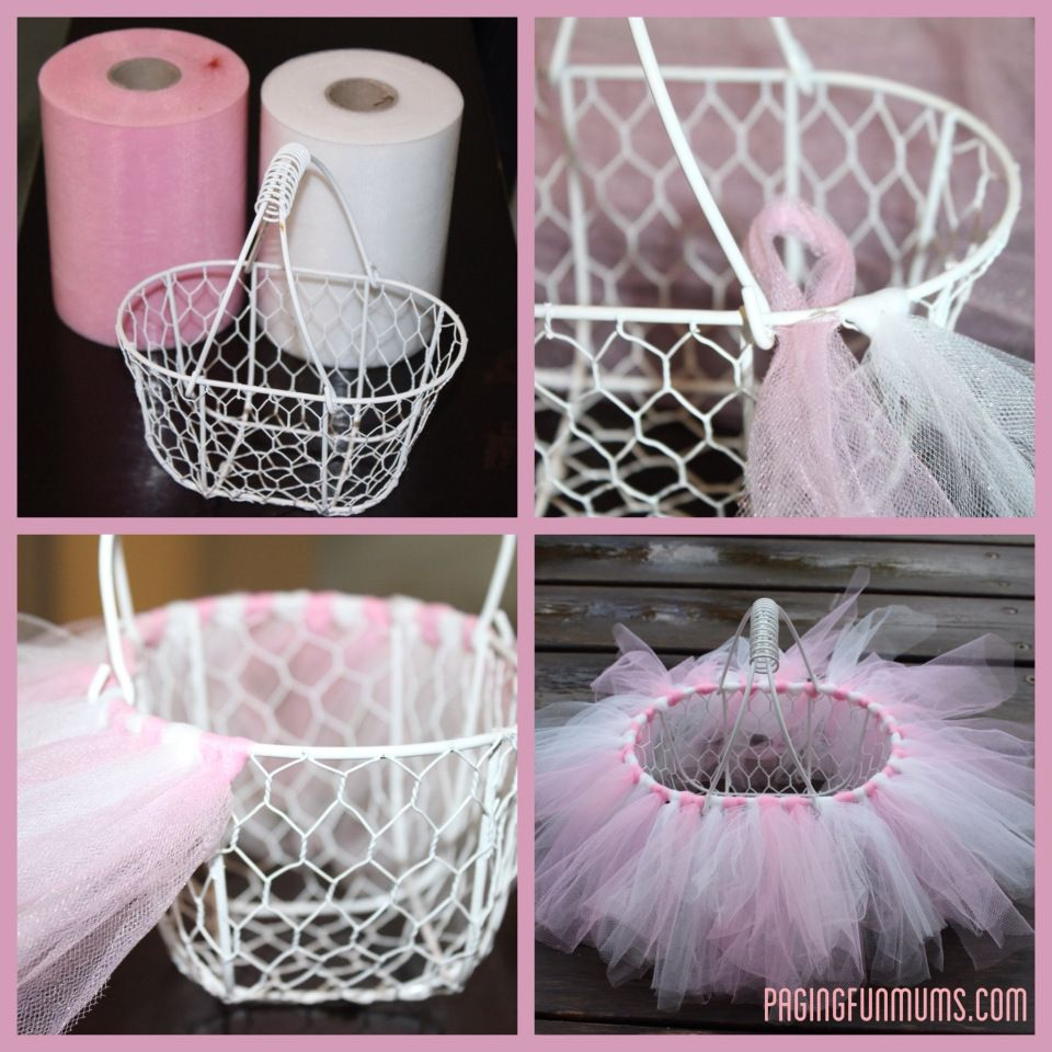 Easy diy tutu easter basket easter baskets tutu and easter easy diy tutu easter basket seems time consuming but worth the finished product negle Image collections