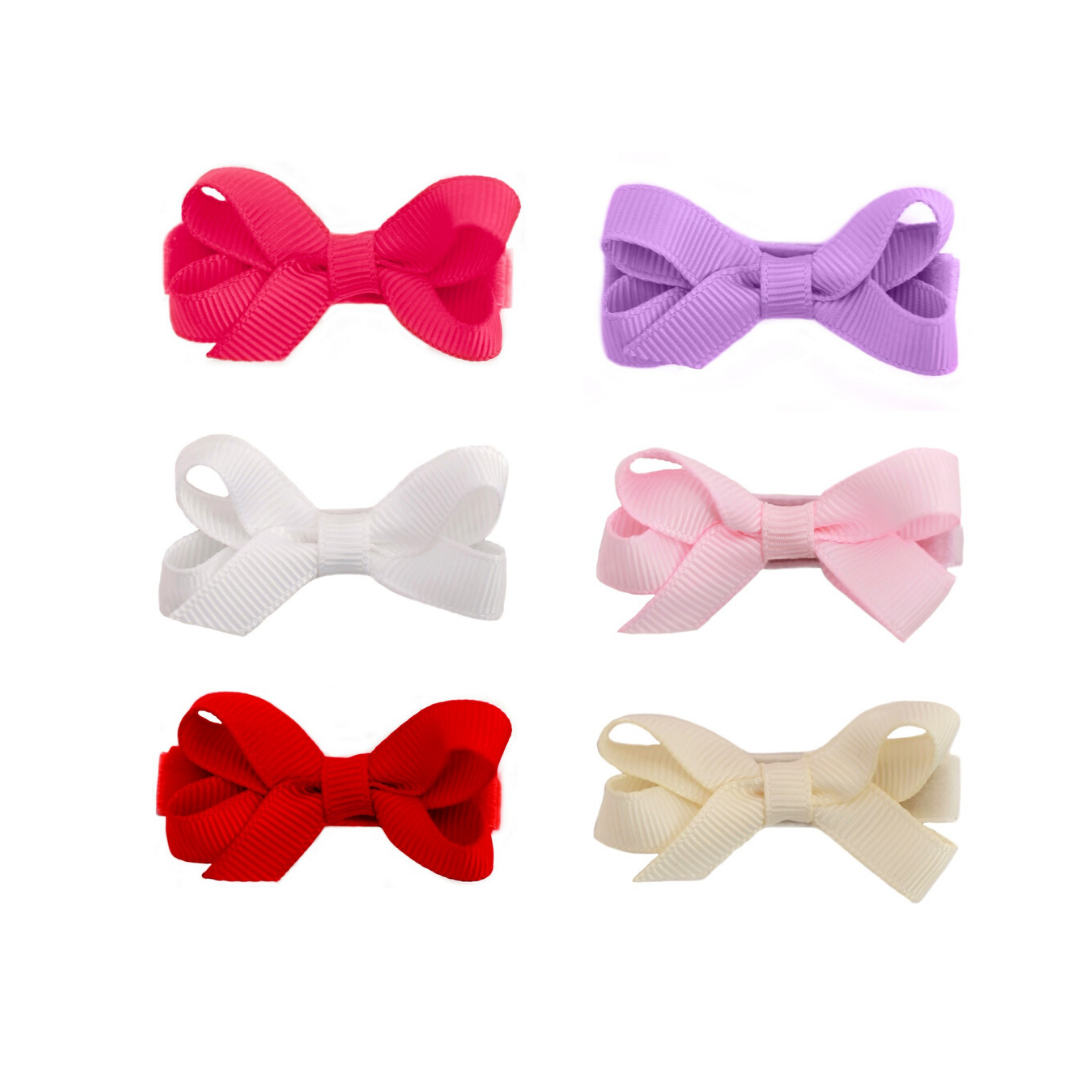 Classic No Slip Baby Toddler Hair Bows 6 Pack Baby Hair Bows Toddler Hair Bows Toddler Hair Accessories