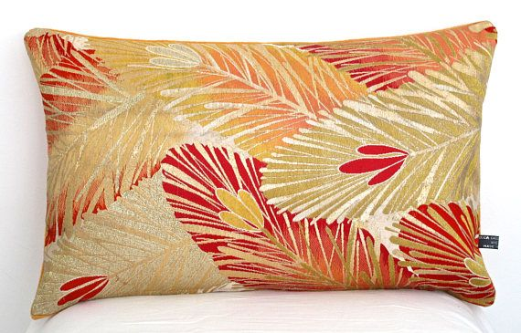 Luxury Decorative Pillow Cushion With Stylised Pine Leaves Decor Best Upscale Decorative Pillows