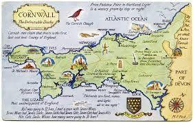 Early Map Of Cornwall England Cornwall Map England Map Cornwall