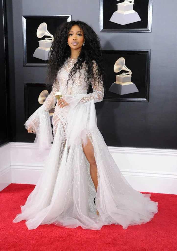The 45 Most Stunning Grammys Red Carpet Looks Of All Time Grammy Dresses Grammy Awards Dresses Grammy Outfits