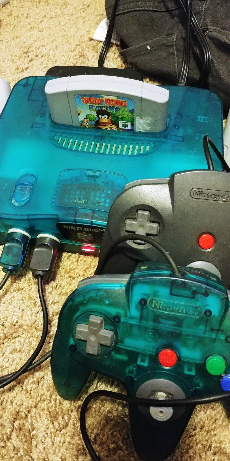 Nintendo 64 Launch Edition Ice Blue Console w/ 7 Games + 2 Controllers