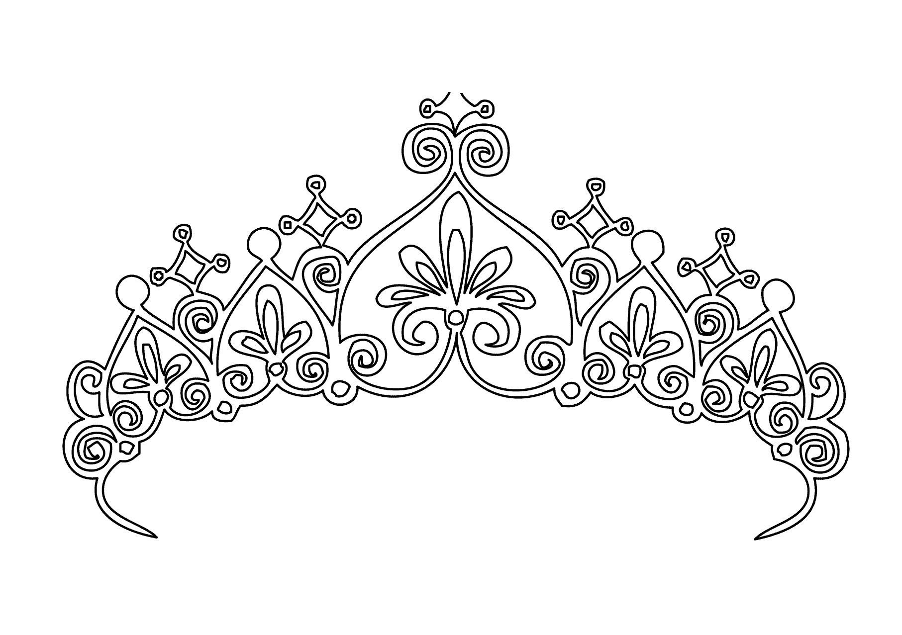 Princess Crown Coloring Pages Printable Through The Thousand