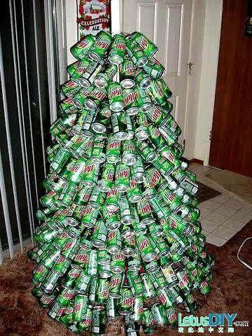 Aluminium can Christmas tree -----LetusDIY.ORG DIY Everything here