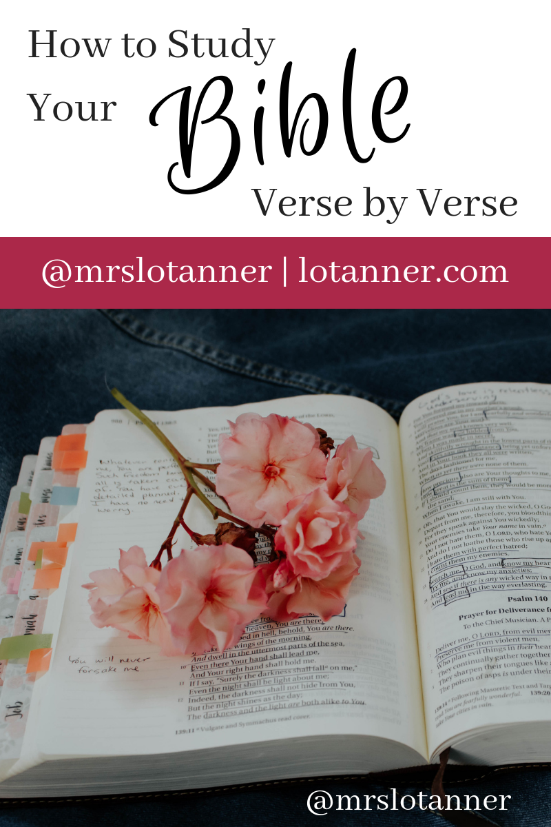 Studying the Bible Verse by Verse | bible | Bible verses