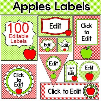 Create a fun and cohesive Apple theme classroom with this value packed set of editable templates. The only limit is your imagination for what you can make to decorate your room. This value packed set includes over 100 pages of full color template designs that can be used for posters, signs, labels, stickers, binder covers, certificates and anything else you can think of!