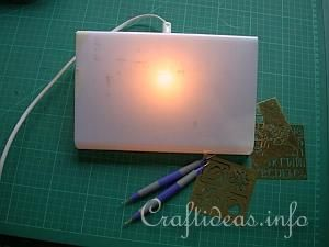 Embossing with the Light Box 1