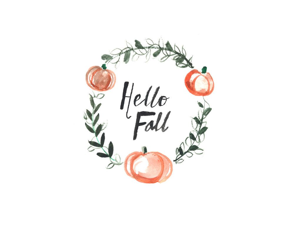 Hello Fall Wallpaper Macbook Pro Freebie Fall Watercolor Desktop Wallpaper Art Fall