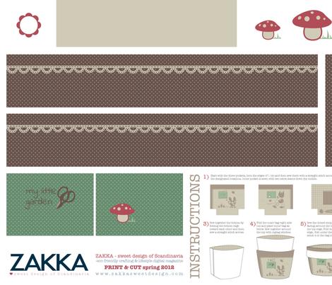 Zakka style Tote Bag - Springtime Bunny fabric by zakkasweetdesign on Spoonflower - custom fabric