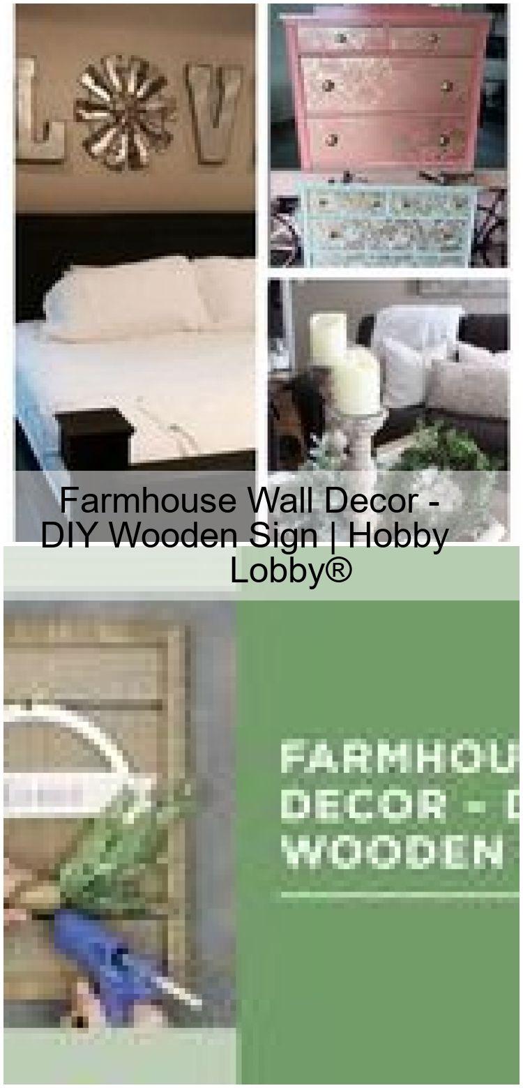Farmhouse wall decor diy wooden sign hobby lobby