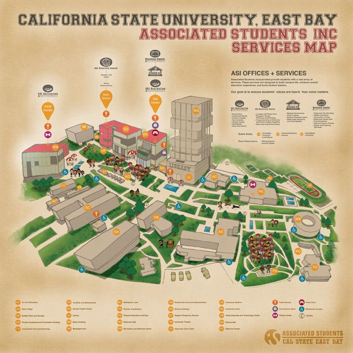 cal state east bay campus map Map And Key Approach Campus Map Map Service Map cal state east bay campus map